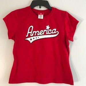 America Short Sleeve T-Shirt L